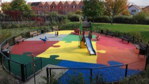 Aire de jeux au parc